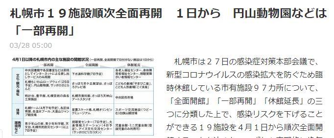札幌市が施設利用再開をするのは時期尚早ではないでしょうか?