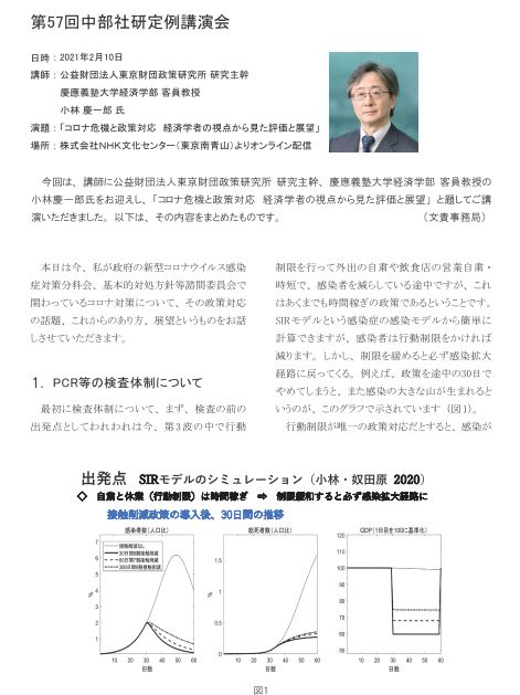 資料確認~「コロナ危機と政策対応 経済学者の視点から見た評価と展望」~