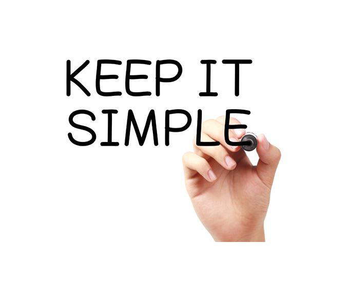 シンプル、シンプル、シンプル!!